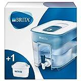 BRITA depósito Flow – Dispensador de Agua Filtrada con 1 cartucho MAXTRA+, Filtro de agua BRITA que reduce la cal y el cloro, Agua filtrada para un sabor óptimo, 8.2L