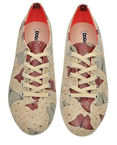 DOGO Zapatos de corredor Oxford de cuero vegano de las mujeres…, (Multicolor), 36 EU