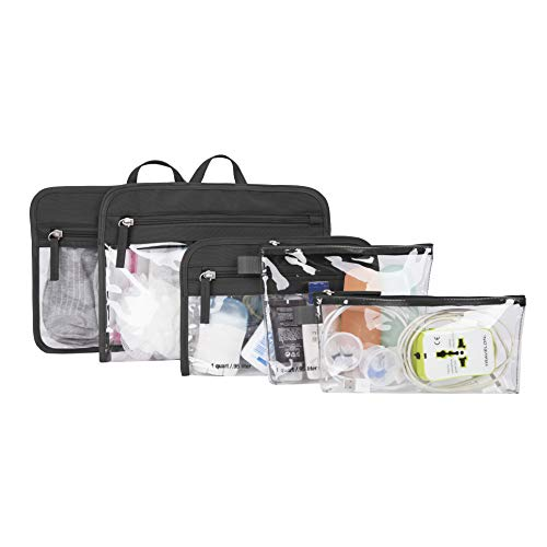 Travelon: Set of 5 Packing Pouches - Black