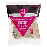 【徳用】ハリオ V60用ペーパーフィルター無漂白 1-2杯用 100枚入/3袋 VCF-01-100M