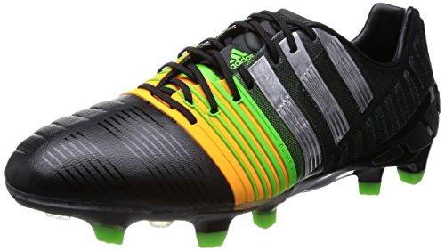 Adidas Herren Nitrocharge 1.0 FG Fußballschuhe, Cblack/Silvmt/Sogold, 42 EU
