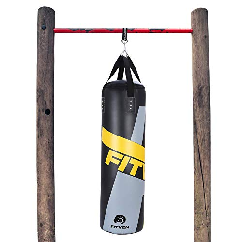 FITVEN Punching Bag for Adults Kids, Indoor/Garden Boxing Bag, Heavy Bag for MMA, Kickboxing, and Muay Thai - 45 lb