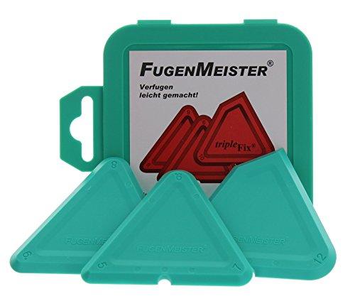 Fugenmeister Triplefix Winkelschablonensatz 5+7+9/4+6+8/10+12 mm/90° Winkel