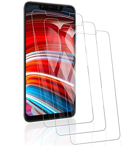 RSSYTZ [3 Pack Protector de Pantalla para Xiaomi Pocophone F1, [9H Dureza] [Resistente a Arañazos] [Admite la función de Huella Digital] Vidrio Templado Screen Protector para Xiaomi Pocophone F1