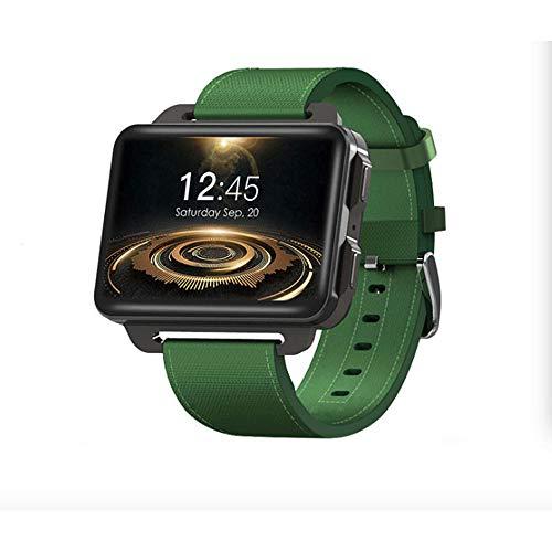DHTOMC Pantalla grande deportes reloj adulto 3G Android Wifi tarjeta reloj inteligente Bluetooth llamada GPS posicionamiento-verde