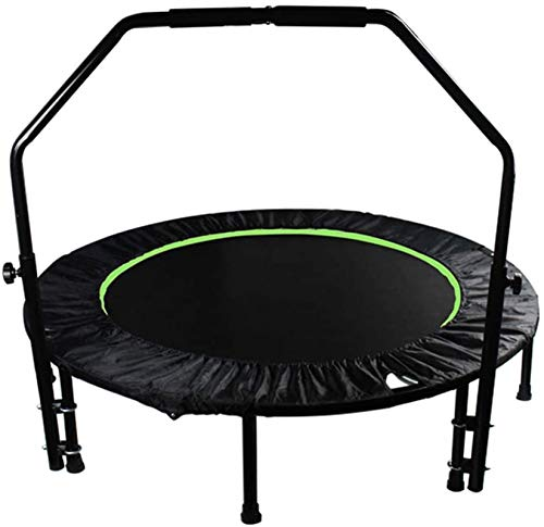 BRFDC Trampolin Fitness El Ejercicio Plegable trampolín con la Barandilla Ajustable for el Entrenamiento Cubierta de Entrenamiento Cardiovascular (Color : Green)