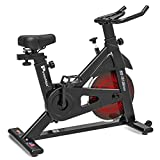 PowerMax Fitness BS-151 Exercise Spin Bike with 13KG Flywheel, LCD Display & Friction Braking System...