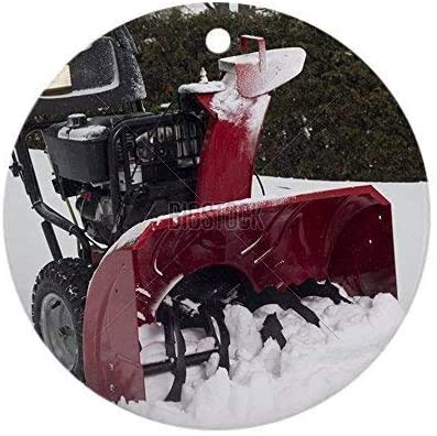 Personalized Christmas Tree Decor Snow Blower Round 3 Inch Ceramic Ornaments Merry Gifts Customized Any Name and Date 3' Ceramic Ornament