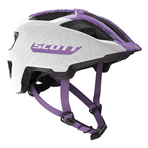 Scott 275232 - Casco de Bicicleta Unisex para niño, Color Blanco/Morado, Talla 1