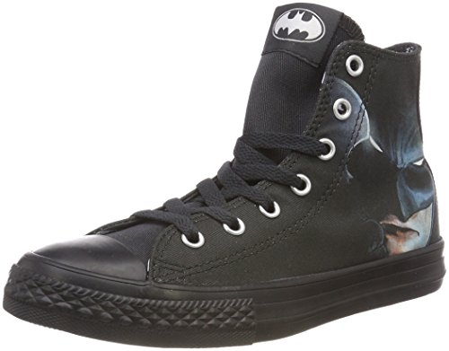 Converse Unisex-Kinder CTAS HI Hohe Sneaker, Schwarz (Black/White/Black 001), 34 EU