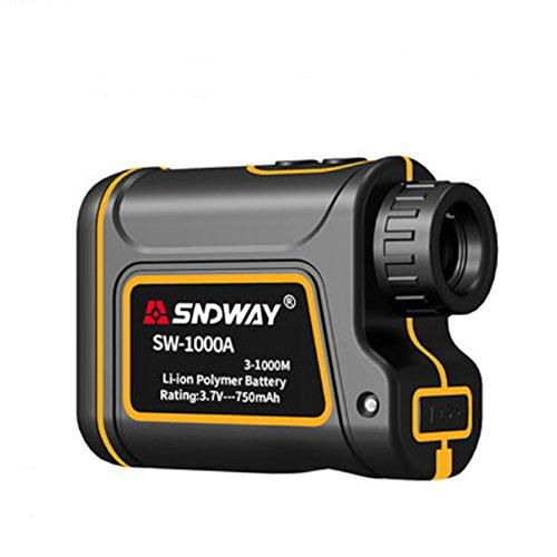 SNDWAY 1000m Golf Telémetro láser con Altura, ángulo, Horizontal(Amarillo)