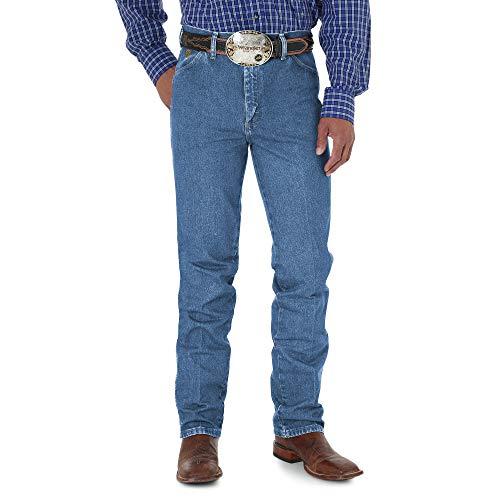 Wrangler Men's George Strait Cowboy Cut Slim Fit Jean, Stonewash, 34x34