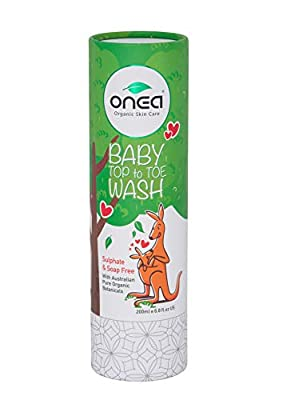 ONEA: All Natural Baby Body Wash, Head to Toe Soap, Hypoallergenic & Paraben, Baby Shampoo & Kids Body Wash, Baby Safe with Vitamin E, 6.8oz