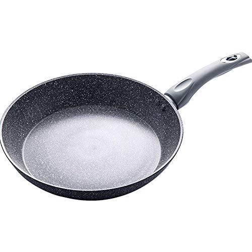 Poêle à frire casserole Aluminium Revêtement de pierre antiadhésif, Poêle à pizza, Poêle à Omelette, Facile à nettoyer,Gray,28cm