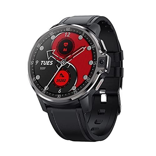 Montloxs DM30 4G Reloj Inteligente Pulsera Deportiva WiFi GPS BT Smartwatch Pantalla táctil Android 9.1 Soporte Nano Tarjeta SIM Llamada telefónica Cámara Dual de 5MP Monitor de frecuencia cardíaca