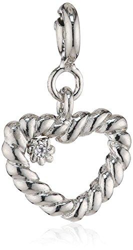 Merii Damen-Anhänger 925 Sterling Silber rhodiniert Zirkonia weiß