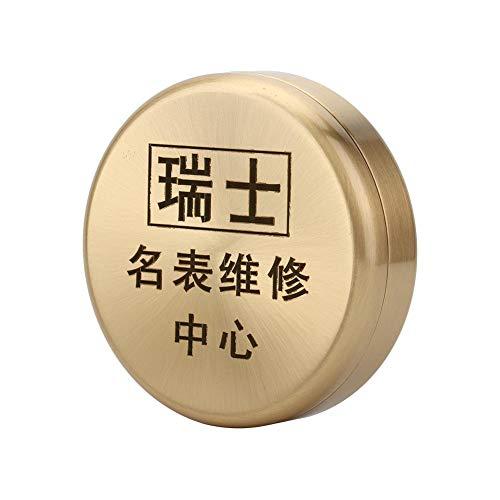 Huakii Herramienta de Aceite para Relojes, Cilindro de Acero Inoxidable, Piezas de Reloj de Pulsera, Olla Limpia para Reloj, Cilindro Profesional para Fabricantes de Relojes para Bricolaje, Hecho
