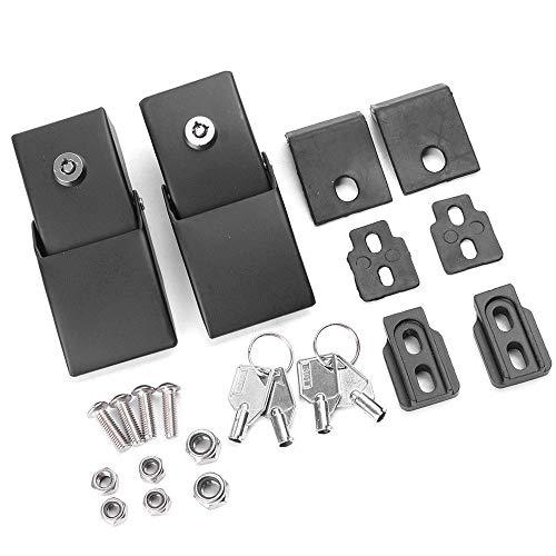 Stainless Steel Hood Latch Hood Lock Catch Latches Kit for for 2007-2017 Jeep Wrangler JK 2 Door /& Unlimited 4 Door Black