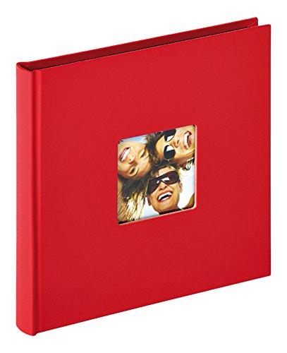 Walther Design Fun Album da Incollare, Carta, Rosso, 18 x 18 cm