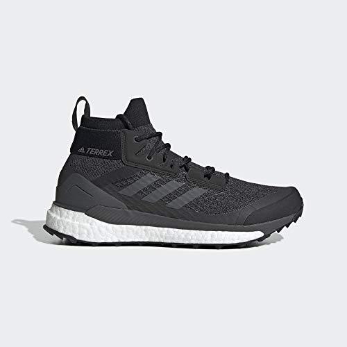 adidas Mens Terrex Free Hiker Walking Shoe, Core Black/Grey/Active Orange, 42 2/3 EU