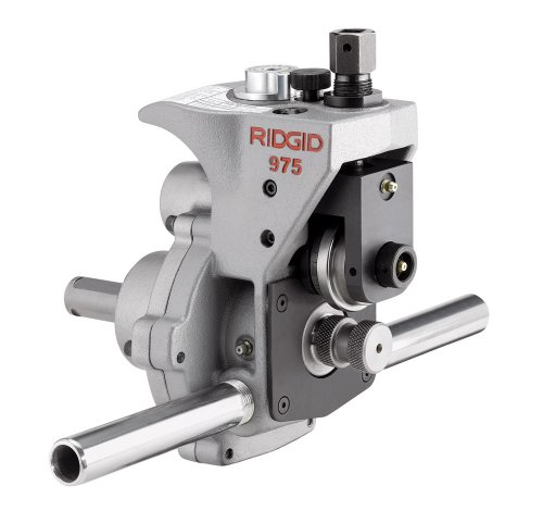 RIDGID 25638 975 Combo Roll Groover, Grooving Machine Mounts to RIDGID 300 Power Drive for Schedules 10, 40, and 80 Pipe, Chrome, Small