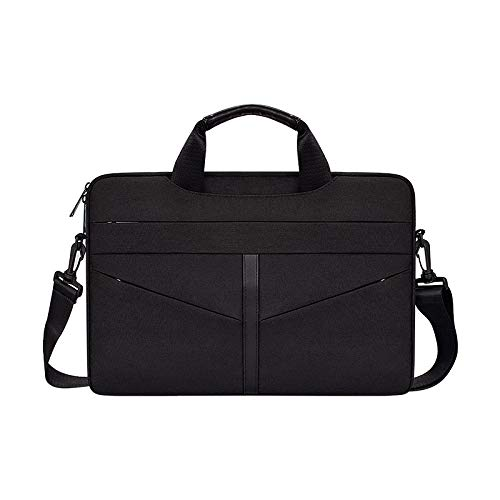Laptop Bag,13.1 14.1 15.4 15.6 Inch Laptop Briefcases Business Laptop Shoulder Bags Structured Work Tote Bag with Professional Padded Compartment for Tablet Notebook Ultrabook (Black,14.1' M)
