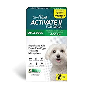 TevraPet Activate II Flea and Tick Prevention for Dogs – 8 Months Topical Flea and Tick Treatment and Control