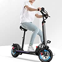 QW Black Electric Scooter Adults,USB Charger,Adjustable,55KM Long-Range,500w Motor,E-Scooter with LCD-display,...