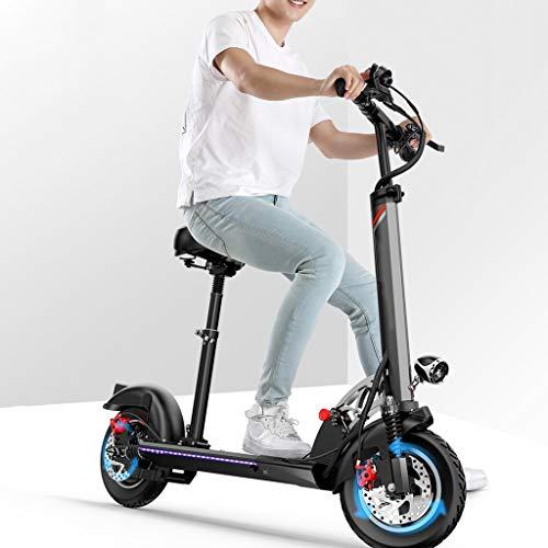 E Scooter Tret-Roller, CityRoller Elektrischer Roller Klappbar mit 60km Langstrecken Akku, bis zu 45km/h, Einfach zu Falten und zu Tragen E-Roller für Erwachsene Jugendliche und Kinder,Mit Sitz