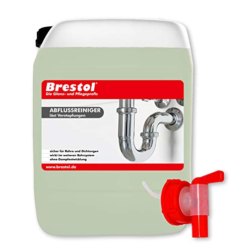 Abflussreiniger 5 Liter inkl. Auslaufhahn 51 mm - Rohrreiniger flüssig Rohrfrei Abflussfrei Abfluss Rein Siphon Reiniger