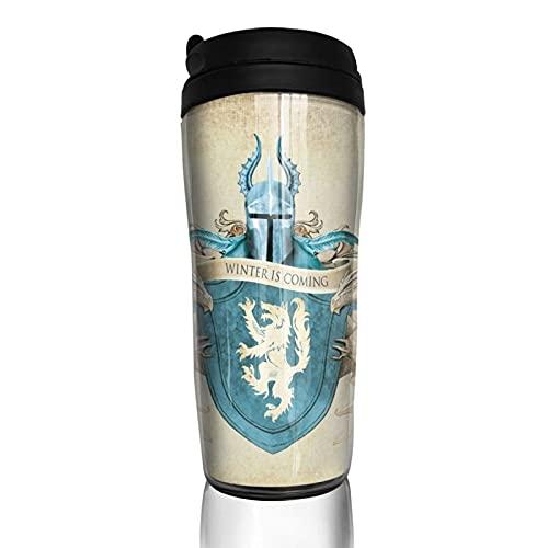Game Thrones - Taza de café reutilizable con aislamiento para bebidas calientes y frías, té y cerveza
