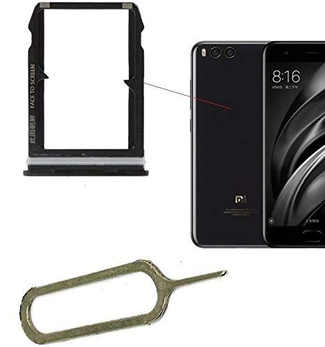 iSkyce Doble Tarjeta Sim Holder para Xiaomi Mi6 Negro