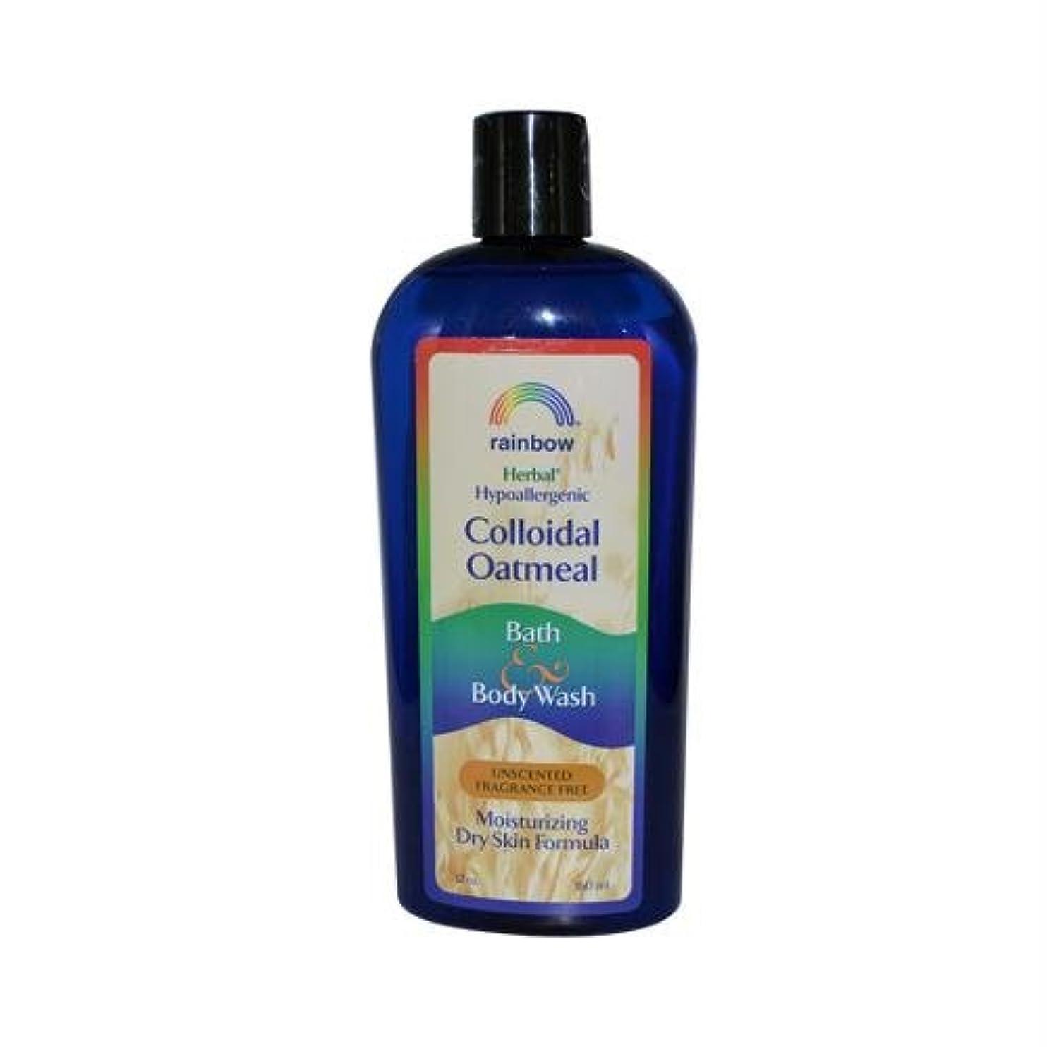 入札閉塞美容師Rainbow Research, Colloidal Oatmeal Bath & Body Wash, Unscented Fragrance Free, 12 oz (360 ml)