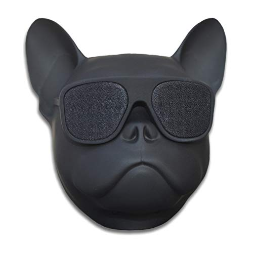 Head Shape Portable Speaker Wireless Bluetooth MP3 Stereo Player for PC Laptop Mac Phone Audio Player Travel Unique Gift Party Outdoor Speakers (French Bulldog)
