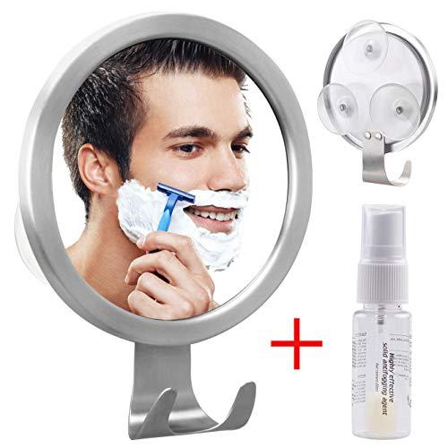 GlobaLink scheerspiegel mistvrije cosmetische spiegel wasbare badkamerspiegel herbruikbaar met haken spoorloze lijm gemaakt van aluminiumlegering + roestvrij staal + pc wandspiegel