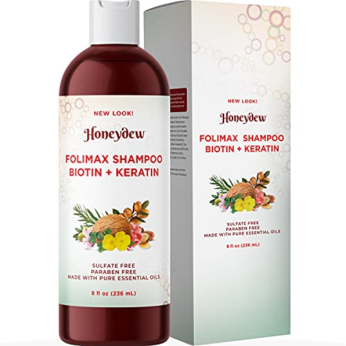 Folimax Biotin Shampoo for Thinning Hair - Volumizing Shampoo for Fine Hair with Pure Biotin for Men and Women - Keratin Biotin Hair Shampoo for Damaged Hair and Hair Volume with Essential Oils