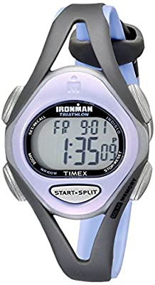 Timex Women's T5E511 Ironman Sleek 50 Mid-Size Purple/Gray Resin Strap Watch by Timex