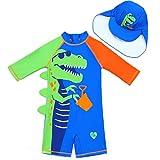 Traje de baño para niños, traje de baño de dinosaurio, traje de baño con...