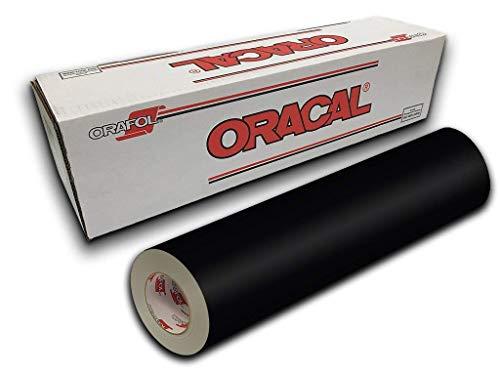 """Oracal 631 Permanent Matte Vinyl (12"""" x10FT Matte, Black)"""