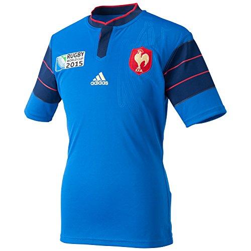 Frankreich adidas Rugby WM Heim Trikot A95802, Blau, L