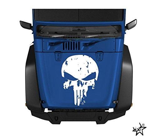 myrockshirt Punisher Motorhaube ca. 60 cm Aufkleber Auto LKW Autoaufkleber Tuning Sticker Vinly `+ Bonus Testaufkleber Estrellina-G