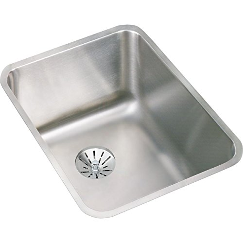 Elkay ELUH141810PD Lustertone Classic Single Bowl Undermount Stainless Steel Sink with Perfect Drain