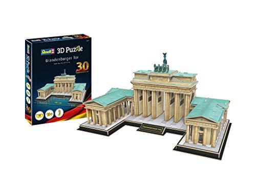 Revell 3D Puzzle 00209 Brandenburger Tor, das Wahrzeichen von Berlin Die Welt in 3D entdecken, Bastelspass für Jung und Alt, farbig
