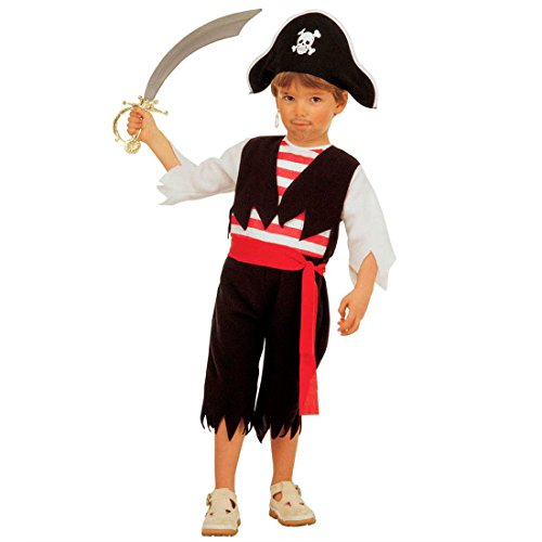 NET TOYS Enfants Pirates Costume déguisement de Pirate Costume Enfant Pirate Corsaire XS 110 cm 3-4 Ans