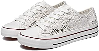 ZGR Womens Fashion Canvas Sneaker Mesh Knitted Upper Low...