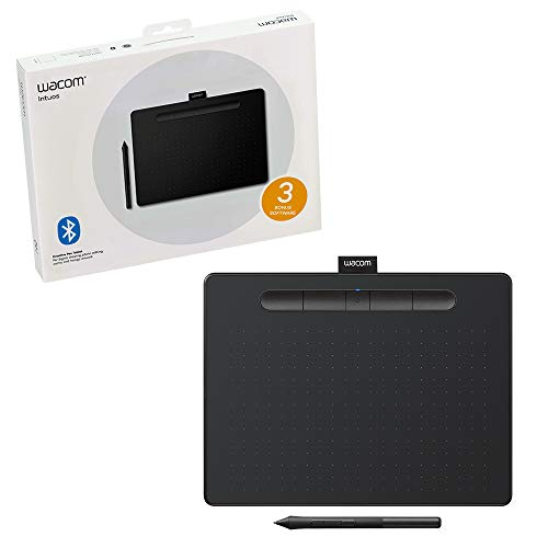 Wacom CTL6100WLK0 Intuos Wireless Graphics Drawing Tablet with Software Included, 10.4