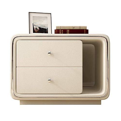 ZGONGLQQ nachtkastjes -ladekast moderne eenvoud mini-kluisjes multifunctionele dubbele lade/open stijl nachtkastmeubilair