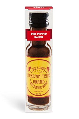 Mexican Tears® - Red Pepper Sauce, scharfe Sauce aus Chili & Meersalz, perfekt als Grill-Zubehör für BBQ Sauce, Pulled Pork & zum Aufpeppen von Spareribs [100ml Chilisauce]