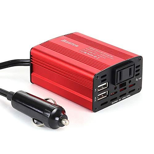 Inversor de corriente CC 12 V A CA 110 V/220 V para coche, convertidor de tensión con cargador de coche, doble USB de 2,1 A
