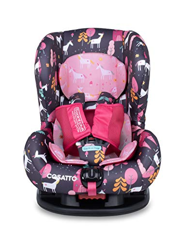 Cosatto Moova 2 Toddler Car Seat - Group 1, 9-18 kg, 9 Months-4 years, Anti-Escape, Forward Facing, Unicorn Land